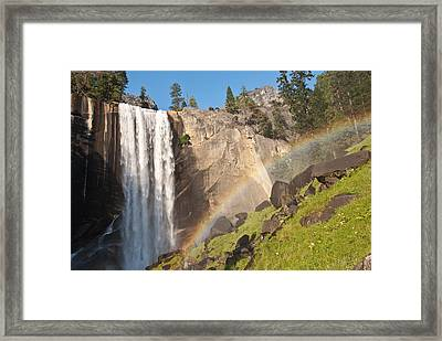 Yosemite Mist Trail Rainbow Framed Print