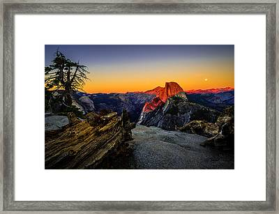 Yosemite National Park Glacier Point Half Dome Sunset Framed Print by Scott McGuire