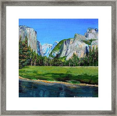 Yosemite National Park In The Spring Framed Print