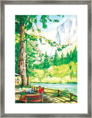 Yosemite Picnic Framed Print by Ray Cole