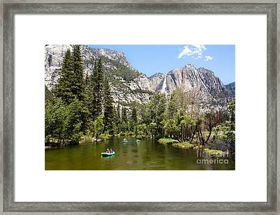 Yosemite Rafting Framed Print by Ava Peterson