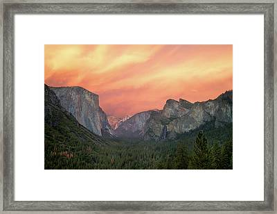 Framed Print featuring the photograph Yosemite - Red Valley by Francesco Emanuele Carucci