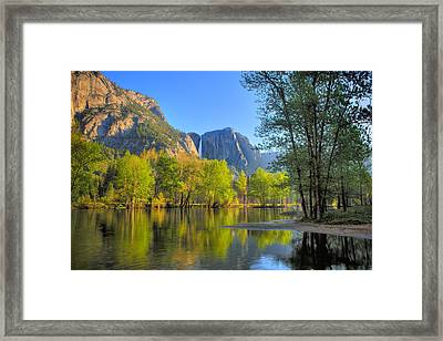 Framed Print featuring the photograph Yosemite Reflections by Kim Wilson
