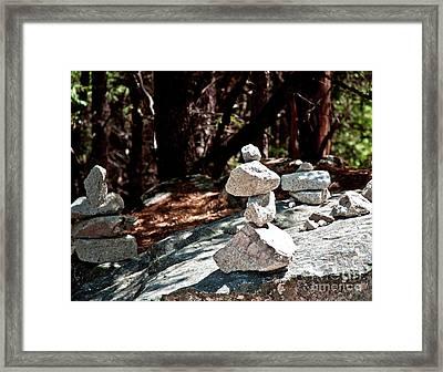 Yosemite Rock Art  Framed Print