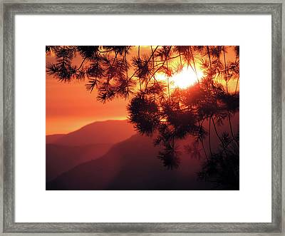 Yosemite Sunset 3 Framed Print by Eric Forster