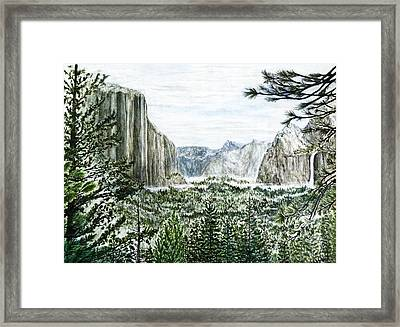 Yosemite ... The Tunnel Framed Print by G H Hisayasu
