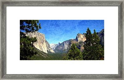 Yosemite - The Valley Of Inspiration  Framed Print