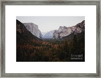 Yosemite Tunnel View Framed Print by JR Photography