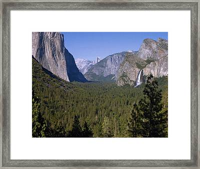 Yosemite Tunnel View Framed Print by Stephen  Vecchiotti