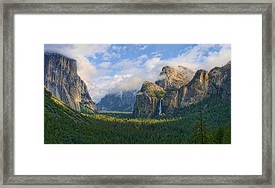 Yosemite Tunnel View Framed Print by Tom Kidd