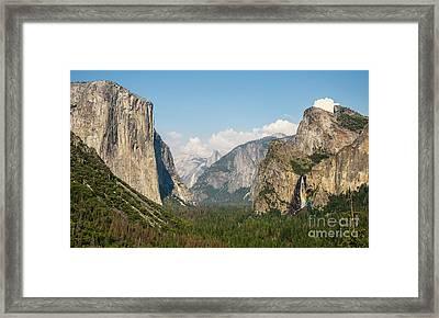 Yosemite Tunnel View With Bridalveil Rainbow By Michael Tidwell Framed Print