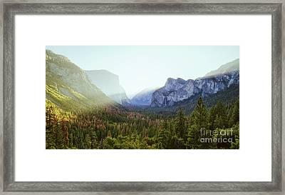 Yosemite Valley Awakening Framed Print by JR Photography