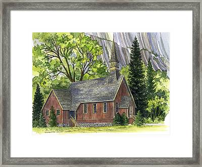 Yosemite Valley Chapel Framed Print by Mark Jennings