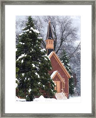 Yosemite Valley Chapel  Framed Print