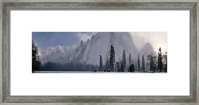 Yosemite Valley Clearing Winter Storm Sunset Framed Print