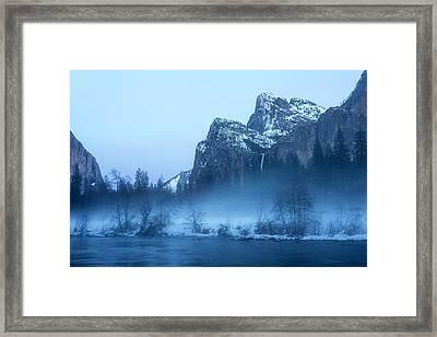 Yosemite Valley Evening Mist Framed Print