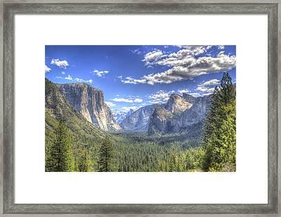 Yosemite Valley Hdr Framed Print