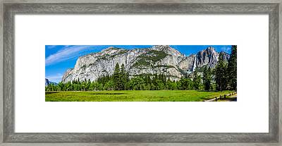 Yosemite Valley Meadow Panorama Framed Print