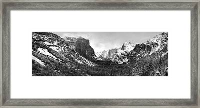 Yosemite Valley Not Clearing Winter Storm Framed Print