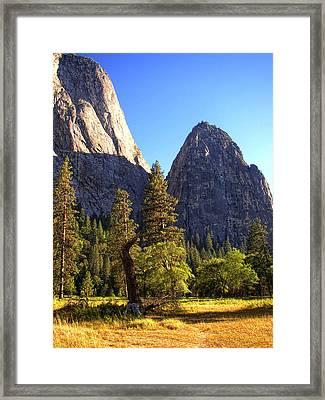 Yosemite Valley Pinnacle - California Framed Print by Glenn McCarthy Art and Photography