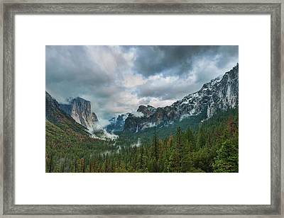 Yosemite Valley Storm Framed Print
