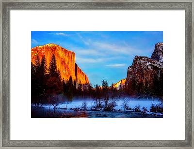 Yosemite Valley Sunset Framed Print by Garry Gay
