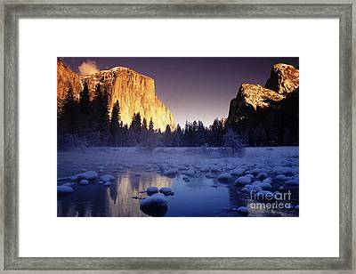 Yosemite Valley Sunset Framed Print