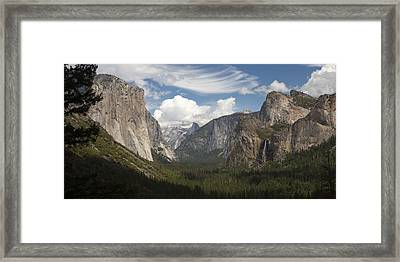 Yosemite Valley - Tunnel View Framed Print
