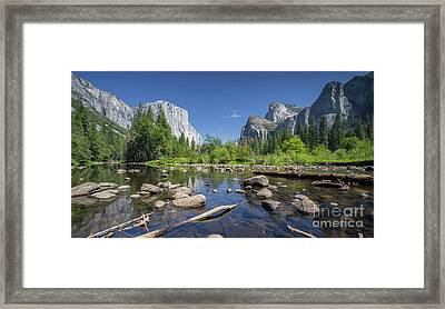 Yosemite Valley View Framed Print by JR Photography