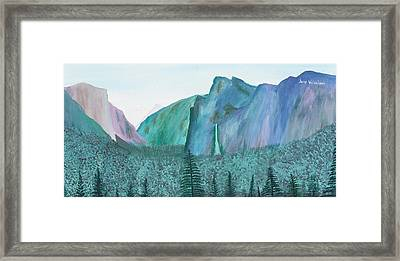 Yosemite View Framed Print