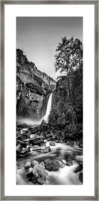 Yosemite Waterfall Bw Framed Print