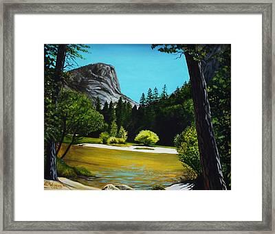Yosemite's Window Framed Print by Elizabeth Robinette Tyndall