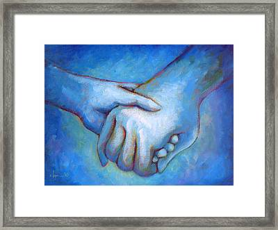 You And Me Framed Print by Angela Treat Lyon