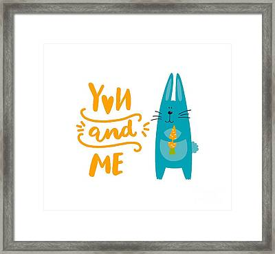You And Me Bunny Rabbit Framed Print by Edward Fielding