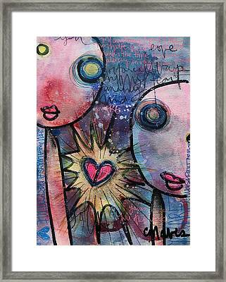 You Are Always In My Heart  Framed Print by Laurie Maves ART