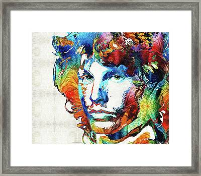 You Are Free - Jim Morrison Tribute Framed Print by Sharon Cummings