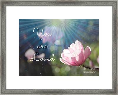 You Are Loved Framed Print by Carol Groenen