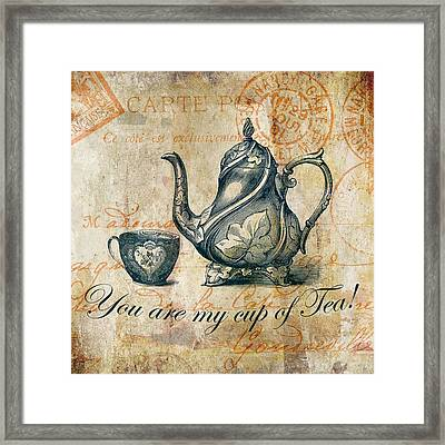 You Are My Cup Of Tea Framed Print by Brandi Fitzgerald