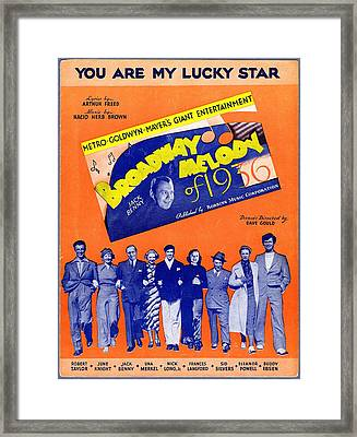 You Are My Lucky Star Framed Print
