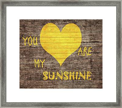 You Are My Sunshine Barn Door Framed Print by Dan Sproul
