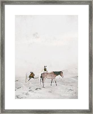 Framed Print featuring the painting You Are Not Alone by Bri B