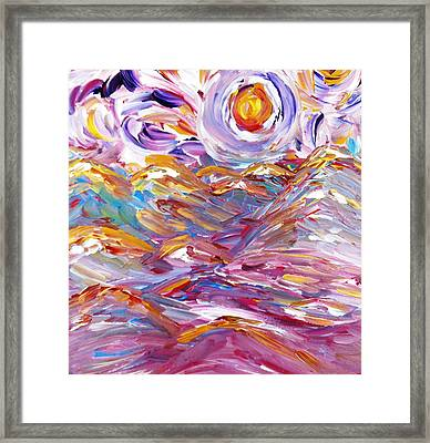 You Are Not The Sea Framed Print by Amy Drago