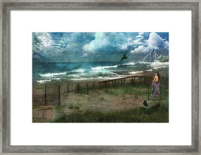 Framed Print featuring the digital art You Are So Far Away by Rhonda Strickland