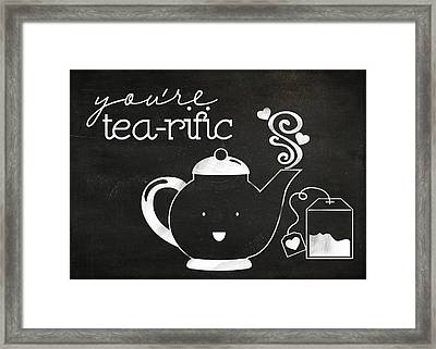 You Are Tearific Framed Print