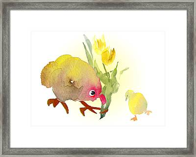 You Are The Cutest Thing Ever Framed Print by Miki De Goodaboom