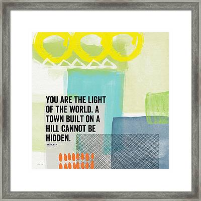 You Are The Light- Contemporary Christian Art By Linda Woods Framed Print by Linda Woods