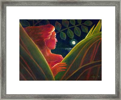 You Are The Light Of My Life Framed Print by Angela Treat Lyon