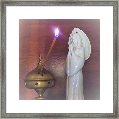 Framed Print featuring the photograph You Are The Light Of The World by Denise Fulmer