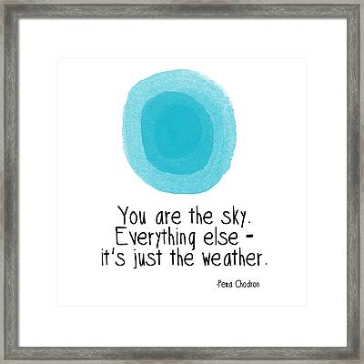 You Are The Sky Framed Print by Linda Woods