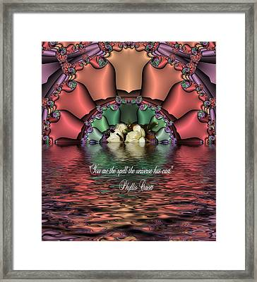 You Are The Spell Framed Print by Lea Wiggins